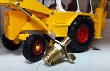 JCB 3 3C Digger Backhoe Loader Radiator Engine Block Drain Tap Brass 1/4 BSP