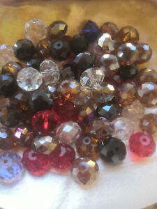 50Pcs 10x12mm Multicolor Faceted Crystal Loose Beads