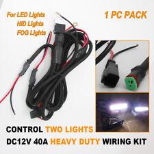 HEAVY DUTY WIRING KIT HARNESS DT DEUTSCH CABLE LED SPOT DRIVING WORK LIGHT BAR