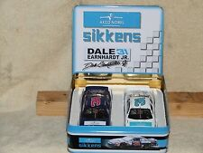 1997 Dale Earnhardt Jr. #31 Sikkens 2 car set w/ Metal Tin box 1/32