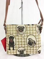 Tapestry Signare Pug Dog Crossbody Bag/Pouch - Shoulder Bag