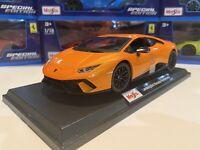 Lamborghini Huracan Performante - Maisto Special Edition 1:18 scale - Orange New