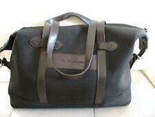 Polo Ralph Lauren Black Nylon & Leather Duffle Bag Overnight Bag Lined
