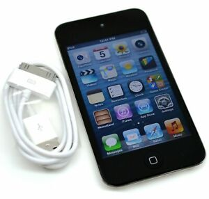 Apple iPod Touch 4th Gen 32GB Black Replaced New Battery & Tested Full Function