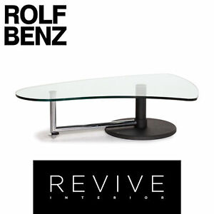 Rolf Benz Glass Metal Coffee Table Black #13699