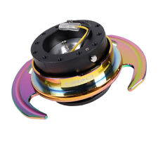 Nrg Universal Steering Wheel Quick Release Hub Kit Gen 30 Black Body Neo Chrome