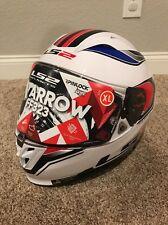 LS2 Arrow Geo Motorcycle Street Racing Helmet - Blue/Red Size XL *NEW IN BOX