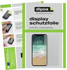 2x Apple iPhone X Protector de Pantalla protectores mate dipos