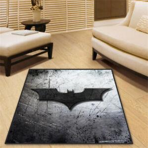 DC Superman Batman Square Velboa Floor Rug Carpet Room Doormat Non-slip Mat Hot