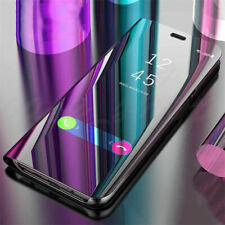 Para Huawei P30 Pro P20 P40 Pro Lite P Smart 2020 Funda para Estuche Abatible de Cuero Espejo