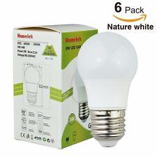 6 Pack 3W LED Light Bulbs G45 Bulb Equivalent to 25W Natural White 4000 Kelvin