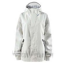 Adidas Women 2L Snowboard Jacket (M) Light Grey / White