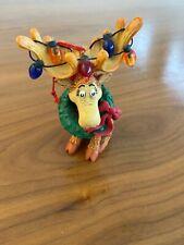 'Seuss' Elk Moose Colourful Christmas Ornament Vintage