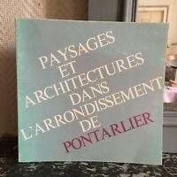 Expo Landschaften Und Architekturen IN L'Stadtteil Von Pontarlier 1980