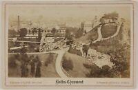 Parigi Buttes-Chaumont Francia Foto Cartolina Armadio P15Ln1 Vintage Albumina
