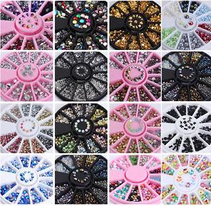 3D Nail Art Rhinestones Glitters Studs Acrylic Tips Decoration  Wheels