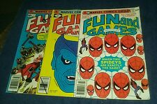 Marvel fun and games magazine 3 5 6 bronze age comics lot spiderman collection