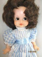 """Vintage 1660's Eegee Goldberger F2 Brown hair and side glancing brown eyes 16"""""""