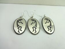 Kokopelli Pendant & Earring Set Sterling Silver Darren Seweyumptewa Hopi