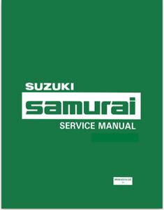 Genuine Suzuki Samurai Factory Service and repair Manual 1986 - 1988 on CD *PDF*