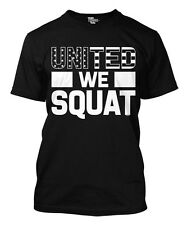 United We Squat - Workout Bench Train Gym Sweat Team  Mens T-Shirt