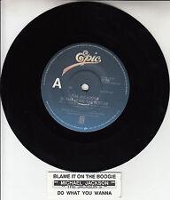 JACKSONS Blame It On The Boogie MICHAEL JACKSON 45 record + juke box title strip
