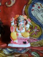Ganesha Statue Marbre Statuette Figurine Inde Fait main Ganesh Shiva Hindou