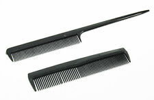 Black combs - 2 Piece  Comb Set for Hair & Combing