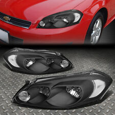 For 06-16 Chevy Impala Limited Black Housing Clear Corner Headlight Head Lamps