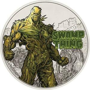 Niue Islands 2 Dollar SWAMP THING Justice League 1 Oz Silber 2021