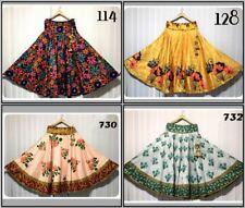 Belly Dancer Comforter Satin Silk Skirt Ghagra Flare Designer Summer Apparel New