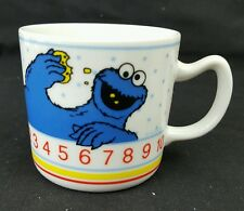 Sesame Street Cookie Monster Mug Cup Child's 6 Ounce Numbers Porcelain Japan