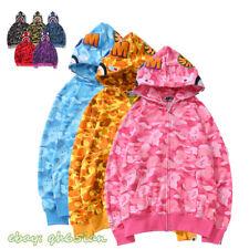Hot A Bathing Ape Bape Com Capuz De Algodão Emenda Jacket Coats Camo Cool 25th Annivers