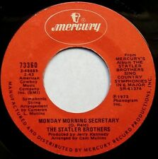 "THE STATLER BROTHERS Monday Morning Secretary/Special Song For Wanda 7"" 45 1973"