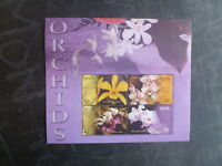 2003 NEVIS ORCHIDS 4 STAMP MINI SHEET MNH