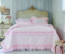 Simply Shabby Chic 2 pc QUILT SET TWIN Pink Petticoat Ruffles NEW Roses