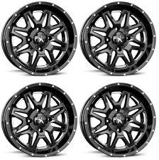 4 ATV/UTV Wheels Set 14in MSA M26 Vibe Black 4/137 0mm CAN