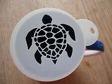 Laser cut turtle shell design coffee and craft stencil