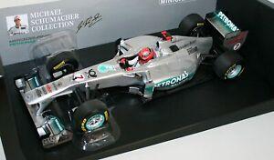 1:18 MINICHAMPS MERCEDES AMG F1 W02 MICHAEL SCHUMACHER SHOWCAR 2011 RARE NEW