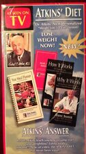 New Sealed Atkins Diet Vhs Set With Diet Manual And Meal Planner Low Carb Diet