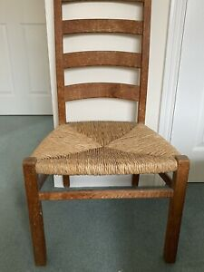 Antique Ladderback Rush Seat Chair