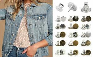 15 PCS Button Pins Adjustable Jean Button No Sew Instant Pants Button Decoration