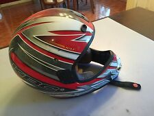 KBC Large sz 59-60cm Off road helmet D.O.T. used red & Silver