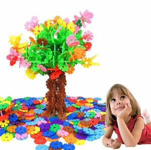 Educational Toys 300 Pieces Snowflakes Interlinking Kids Construction Blocks