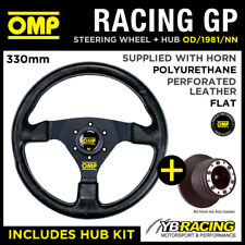 OMP RACING GP 330mm STEERING WHEEL & HUB for MAZDA MX5 MX-5 MIATA 90-