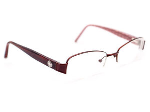 Coach Women's Eyeglasses Adalaide 223 Bordeaux Half Rim Frame 51[]18 135