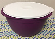 Tupperware Maxi Mixing Bowl 42 Cups Orchid w/ White Seal Large Mixing Bowl New