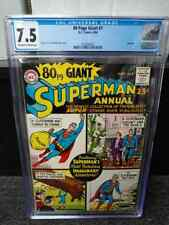 80 PAGE GIANT #1 CGC 7.5  SUPERMAN  SUPERGIRL  1964      COMIC KINGS