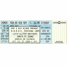 THE ALLMAN BROTHERS BAND Full Concert Ticket Stub SANTA FE NM 7/27/94 HORDE Rare