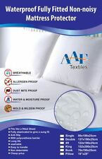 Antiallergy  Waterproof Non Noisy  mattress protector fitted sheet extra deep